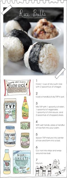 The Vegan Stoner's Rice Balls.. interesting!! way easier than rolling stupid sushi traditionally..