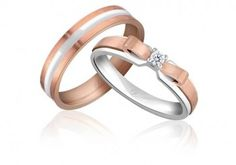 "LVC Noeud Collection ~ By: Love & Co - Ribbon Diamond Ring brings you a couple bands that not only represent the tradition of ""tying the knot"" but at the same time exudes elegance... http://www.wedding.com.my/category-jewelry-and-ring/3"