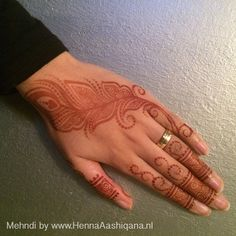 Feather henna design