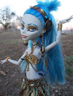 Monster High Custom Belly Dancer Doll 4 by ~macabredarling on deviantART