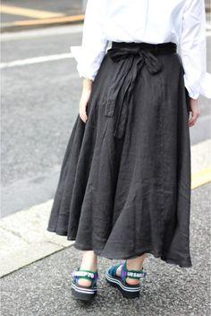 BLACK CRANE/ブラッククレーン ラップスカート