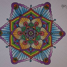 Beautiful mandala colouring page! Coloured by @darrenjones71 using their Chameleon Pens! #chameleonpens #pen #marker #alcoholmarkers #markerpen #colour #color #colouring #coloring #mandala #mandalaart #mandaladesign #adultcolouring #adultcoloring #create