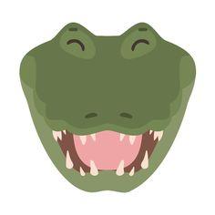 Alligator Birthday, Culture, Layout Template, Create A Logo, Icon Set, Digital Illustration, Crocodile, Layout Design, Illustrations