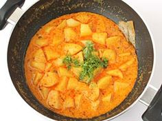 Potato Curry with Curd Gravy - Step by Step Photo Recipe