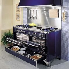 What an oven! Majestic Range with Warming Drawers! #luxury #kitchen #appliances
