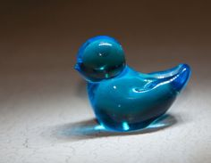 Vintage Bluebird of Happiness Tiny 1 Inch Tall by StateStreetSadie
