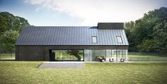 Assembly studios water end house architecture vray max 02 Residential Architecture, Amazing Architecture, Architecture Details, Modern Architecture, Studios Architecture, Cabin Design, House Design, Architectural Design Studio, Modern Barn House