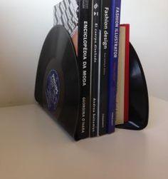 aparador de livros de vinil -