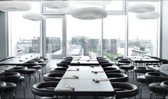 Sticks'n'sushi, Tivoli Hotel, Copenhagen with chairs from Cassina Retail Interior, Interior And Exterior, Sushi Bar Design, Tivoli Hotel, Danish Cuisine, Cozy Basement, Bar Design Awards, Acoustic Wall, Lighting Concepts