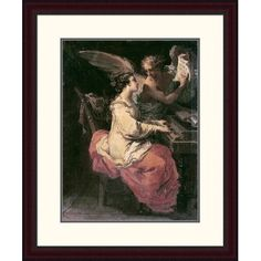 """Global Gallery 'Saint Cecilia' by Gaetano Gandolfi Framed Painting Print Size: 30"""" H x 24.6"""" W x 1.5"""" D"""