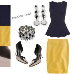 Even if you are color timid, add a pop of yellow to your fall and winter wardrobe. Article Design, Winter Wardrobe, Color Trends, Pop, Yellow, Fall, Fashion, Autumn, Moda