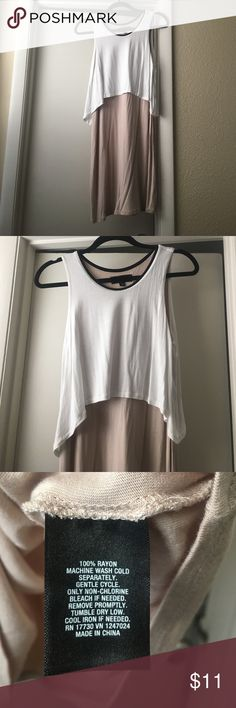 Spring/summer dress Two toned taupe and soft white dress with black collar super cute from target worn once. Wash and hang dried. Mossimo Supply Co Dresses