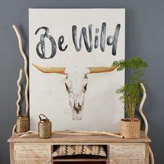 Cuadro con cabeza de búfalo 100x130 Buffalo | Maisons du Monde Canvas, Room, Projects, Inspiration, Furniture, Interiors, Home Decor, Dining Room Furniture, Kid Bedrooms