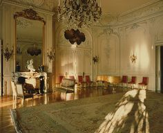 The Elms ~ Ballroom. The largest room in the house, it is capable of holding guests comfortably. Used by the Preservation Society in the for their opening event.