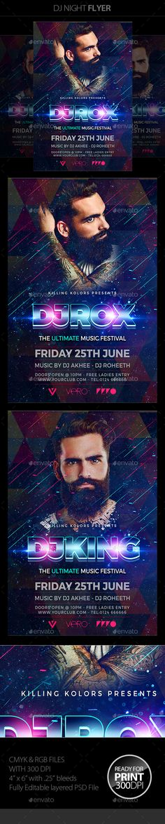 Urban Sounds Flyer / Poster Template PSD. Download here: http ...