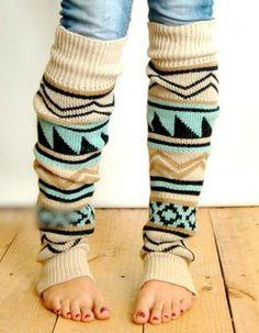 Aztec Print Leg Warmer