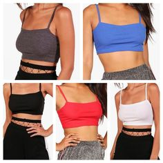 b3f8f150d6f Ladies ribbed square neck cami strappy bandeau boobtube bralet women crop  top