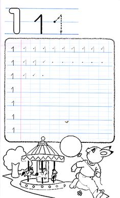 Apprends à écrire le chiffre 1 English Tips, Ark, Worksheets, Preschool, Math Equations, Preschool Printables, Note Cards, Writing, Handwriting Sheets