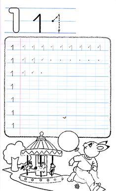 Apprends à écrire le chiffre 1