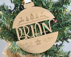 Personalized Christmas Ornament // Christmas Tree Ornament // Laser Cut Ornament // Laser Engraved Personalized Ornament