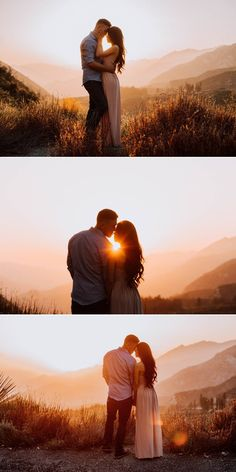 Gorgeous Mountain Sunset Engagement Shoot - Svenja Genausonuranders - Gorgeous Mountain Sunset Engagement Shoot Angeles Crest Forest Gorgeous Mountain Engagement Shoot in Los Angeles, California - Mountain Engagement Photos, Engagement Photo Poses, Engagement Photo Inspiration, Engagement Couple, Engagement Pictures, Engagement Shoots, Wedding Pictures, Country Engagement, Mountain Photos