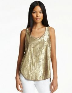 KENNETH COLE Cora Foiled Blouse