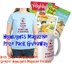 The giveaway is live! Enter to win a prize pack from Highlights for Children worth up to $80. Including a FREE 1 year subscription to the magazine of your choice!