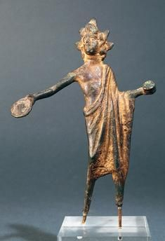 Etruscan, bronze statuette offerings bearer, 5th century BC.