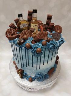 Blue Drip Cake, Drip Cakes, Birthday Cake, Desserts, Food, Tailgate Desserts, Birthday Cakes, Deserts, Eten