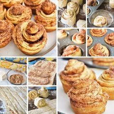 These cruffins are super easy to make and absolutely delicious! Filled with cinnamon sugar, these are sure to satisfy your morning sweet tooth! #breakfast #muffins #breads #cruffins #snacks #dessert Breakfast Pastries, Breakfast Muffins, No Bake Desserts, Dessert Recipes, Brunch Recipes, Easy Delicious Recipes, Yummy Food, Cruffin Recipe, Muffin Tin Recipes