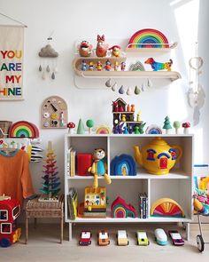 the boo and the boy: playrooms part 2 Baby Bedroom, Kids Bedroom, Bedroom Decor, Wall Decor, Girl Nursery, Girl Room, Ideas Dormitorios, Rainbow Room, Kids Room Art