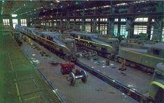 Wow a shop full of GG1s! Pennsylvania Railroad electric locomotive shops, Wilmington, DE....