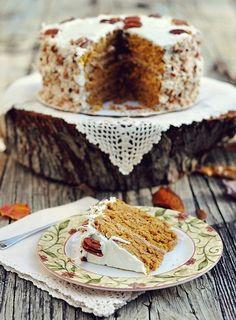 Карамельный тыквенный торт с итальянским кремом » Кулинарные рецепты