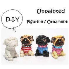 DIY PUG Mini Ornament