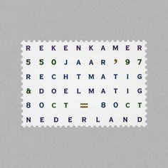 Algemene Rekenkamer. Netherlands, 1997. Design: Irma Boom #mnh #mintneverhinged #mnh_nld #postagestamps