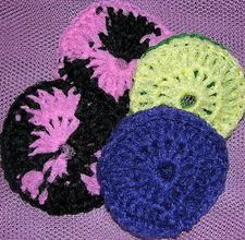 nylon net scrubbies instructions