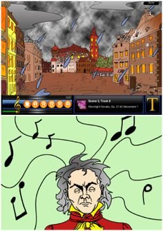 A free app introducing Beethoven and his music to young kids with engaging story accompanied by his music, with option to turn off visual and sound to read it as a plain book  #kidsapps #musicapps #bookapps