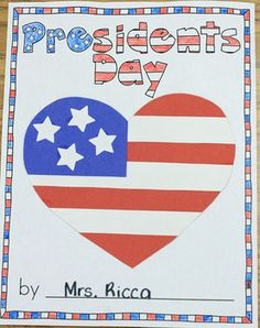 Here's a booklet that includes includes 5 crafts for Presidents' Day. Templates are included for: George Washington, Abraham Lincoln, Liberty Bell, Bald Eagle, and American Flag.