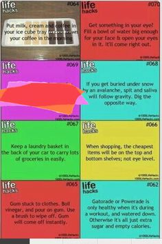 Life Hacks List, Life Hacks For School, 1000 Life Hacks, Useful Life Hacks, Amazing Life Hacks, Simple Life Hacks, Things To Know, How To Memorize Things, Hacking Websites