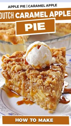Apple Pie Recipes, Apple Desserts, Vegan Recipes Easy, Easy Desserts, Pie Crust Recipes, Pie Crusts, My Recipes, Recipies, Caramel Pie