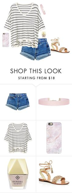 """""""you are the best thing that's ever been mine."""" by abbyjenkinstx ❤ liked on Polyvore featuring Humble Chic, MANGO, Casetify, Kendra Scott and Jack Rogers"""