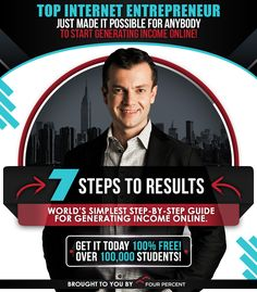 Over 45,000+ people are following this guide right now to generate $100 - $500+ per day online from home. http://myinternetspot.com/7stepspro