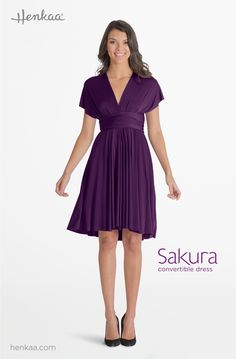 Learn to Style the Sakura Midi Convertible Dress in the Victoria Style - Portrait Sleeve