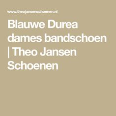 Blauwe Durea dames bandschoen   Theo Jansen Schoenen