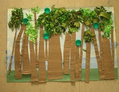 Earth Day trees using household materials
