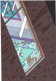The Window (Limited Edition Print) art by Moebius (Jean Giraud) Archive Jean Giraud, Moebius Comics, Moebius Art, Science Fiction, Western Comics, Ligne Claire, Mystery, Manado, Graphic Novels