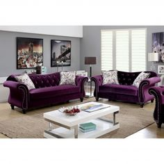Lavender Sectional Sofa