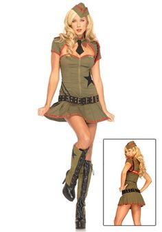 2020 Leg Avenue Women's Private Pin Up Costume and more Career Costumes for Women, Military Costumes for Women, Women's Halloween Costumes for Sexy Army Costume, Soldier Costume, Military Costumes, Career Costumes, Girl Costumes, Costumes For Women, Military Women, Military Army, Kids Army