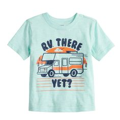 This boys' Jumping Beans graphic tee is perfect for your little explorer. Toddler Boys, Kids Boys, Outfits For Teens, Boy Outfits, Jumping Beans, Summer Shirts, Vintage Style Outfits, Graphic Tees, Infant