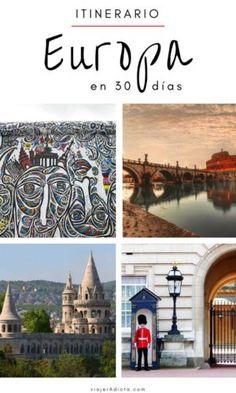 Itinerario-Europa-30-dias Budapest, Eurotrip, World, Travel, Painting, Wonderful Places, Prague, Hotels, London